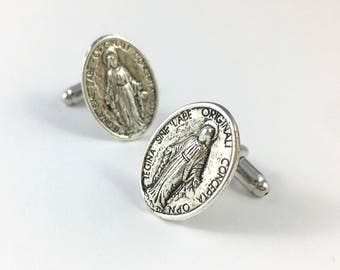 Christian Cufflinks, Gothic Cufflinks, Gothic Man Gift, Wedding Cufflinks, Religious Cufflinks, Cross Cufflinks, Catholic Cufflinks