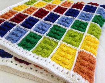 Lego Pattern, Crochet Lego Blanket, Lego Blanket Pattern, Crochet Pattern, Lego Theme Pattern, Baby Blanket Pattern, Crochet Blanket Pattern