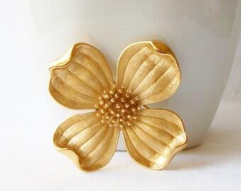 Vintage Trifari Flower Brooch, Vintage Jewelry