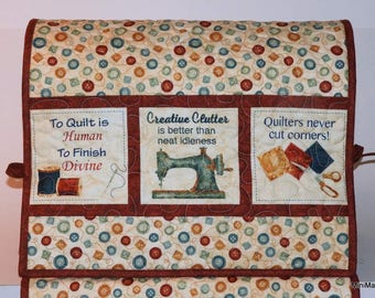Quilted Sewing Machine Cover, Quilting Quotes, Buttons