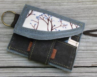 Vegan Minimalist Wallet, Eco-friendly Wallet, Waxed Ultra Suede, Wedding Bridesmade Gifts, Business Gifts