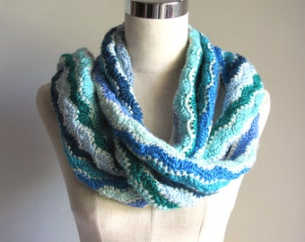 Hand Crocheted Scarf soft warm approximately 6 feet 4 inches long
