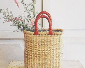 woven market basket | basket bag | fair trade