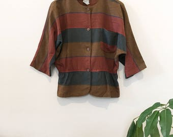 80's Striped Wool Top