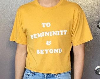 To Femininity & Beyond - Mustard - Cropped