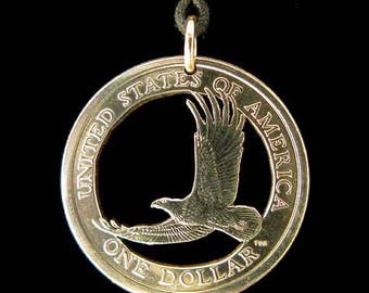 Cut Coin Jewelry - Pendant - US - Eagle