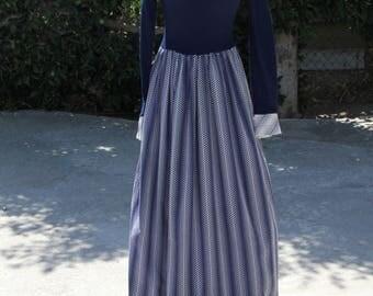 Vintage long sleeve Boho Maxi dress