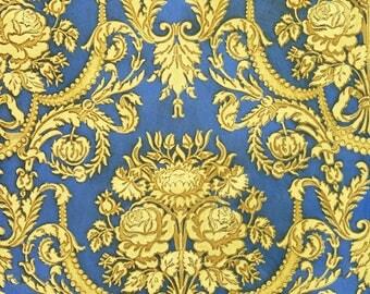 antique french Marie Antoinette wallpaper illustration roses and fleur de lys digital download