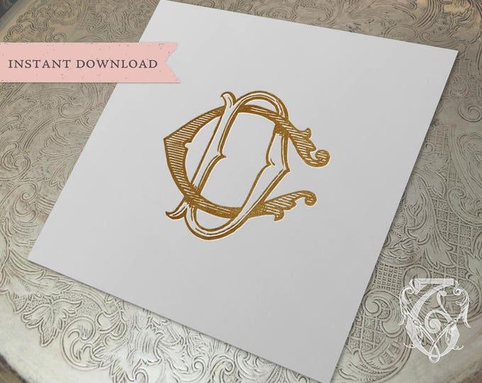 Vintage Wedding Monogram CD DC Digital Download C D