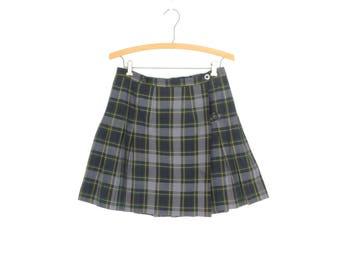 Pleated Mini Skirt * Plaid Schoolgirl Kilt * Tartan Skirt * Small