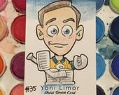 Nashville Predators Hockey — Pekka Rinne WATERCOLOR Sketch Card — ACEO original art