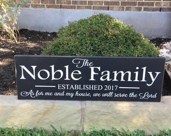 As For Me And My House Custom Wood Sign ~Entryway Decor ~Scripture Wall Art~Last Name Family Sign~Joshua 24:15~Wedding Sign Gift~Bible Verse