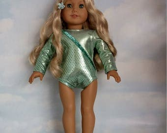 18 inch doll clothes - #105 Mint Green Leotard handmade to fit the American Girl Doll - FREE SHIPPING