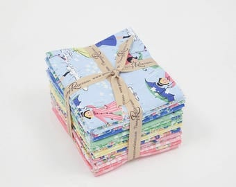 PRE ORDER Fat Quarter Bundle - Mae Flowers Fabric by Lindsay Wilkes for Riley Blake Designs and Penny Rose Fabrics