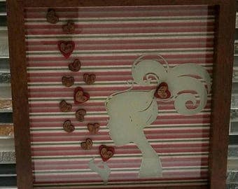 Love and Hearts Forever shadowbox