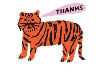Tiger Thank You Note Set