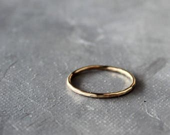 Solid Gold Ring, 14k gold ring, simple gold band, stacking rings, gold stacking rings,  gold ring band, gold ring set, skinny stacking ring