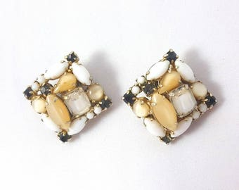 Vintage Milk Glass Clips by Kramer
