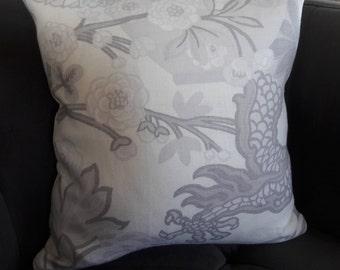 CHIANG MAI DRAGON Limestone New!!  Schumacher Pillow Cover