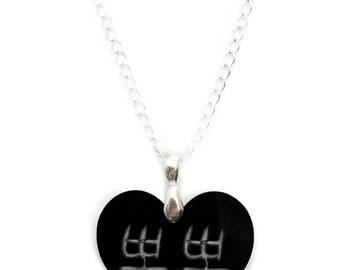 Korean Hangul Necklace Kiss, Wedding Gift for Her, Korean Bridal Shower, Kpop Kdrama Lover Jewelry, Love Anniversary