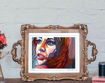 Fiona Apple Portrait Music Lover Gift Watercolor Print Portrait Housewarming gift for her Inspirational Gifts Office Decor for Women Gifts