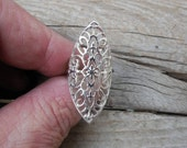 ON SALE Lace ring handmade in sterling silver 925