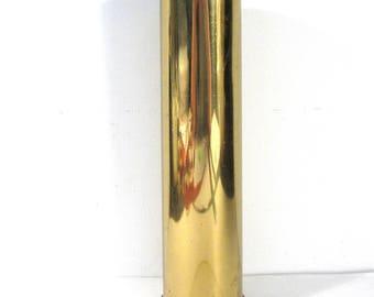 """WWII Artillery Shell Solid Brass 8 3/4"""" Tall World War 2 1942? Artillery Shell Tramp Art Home Decor Weaponry Supplies FREE Shipping (G332)"""