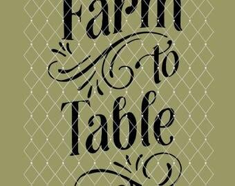 STENCIL Farm to Table 10x6.5