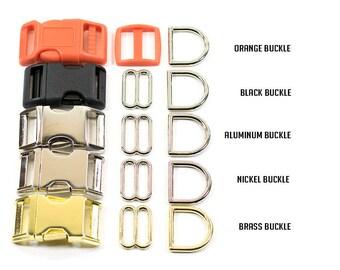 """Friendly Lion Dog Collar, Jungle Dog Collar, Orange Dog Collar, Male Dog Collar, 1"""" or 3/4"""" Wide"""