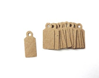 250 Tiny Kraft Paper Tags Jewelry Tags Blank