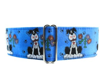 Great Dane Martingale Collar, Blue Martingale Collar, 2 Inch Martingale Collar, Great Dane Dog Collar, Fire Hydrant Martingale Collar