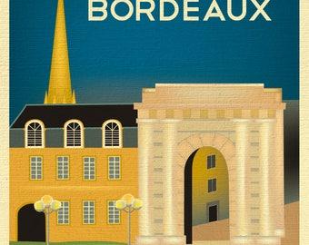 Bordeaux Print, Bordeaux France Poster, Bordeaux Wall Art, Bordeaux France Retro Art, Bordeaux France Art, Victor Hugo - style E8-O-BOR