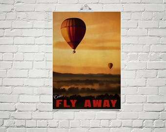 Balloon Art 18x24 Poster Fine Art Print Hot Air Balloons Art for Nursery Bedroom Wall Decor Living Room Wall Art
