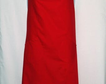 Plus Size, Red Christmas Apron, Full Bib Long, Matching Apron, Custom Gift, Personalize With Name, No Shipping Fee, Ships TODAY,  AGFT 1223