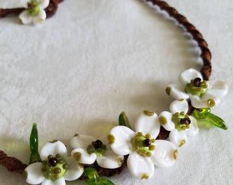 Dogwood Flowers  Necklace Jewelry