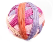 Zingy Gold Sparkle Self-Striping Sock Yarn in Rose Bowl