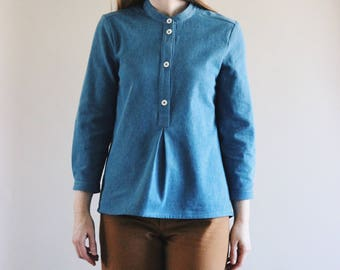 Ingrid Denim Pullover Top