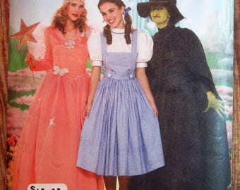 Misses Wizard of Oz Costumes: Dorothy, Witch and Fairy Sizes 6 8 10 12 Simplicity Pattern 4136 UNCUT