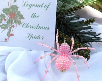 Christmas Spider Ornament Folk Art Tales Legend of Tinsel and Garland