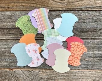 Tab Die Cut Shapes . File Folder Tabs . Paper Die Cuts . Stampin Up . Cardstock Notebook Paper Scrapbooking Art Journaling