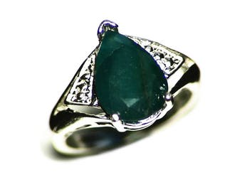 Grandidierite Ring Size 5 1/2 Sterling Silver (2.84 ct) Rare Blue Grandidierine Collector Gem from Madagascar, Blue Womens Ring, Rare Gem