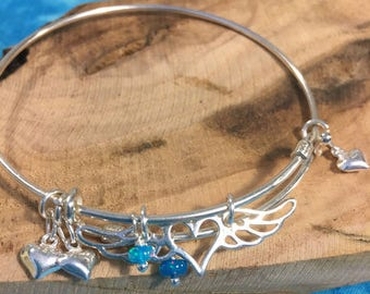 Angel Wing Sterling Bracelet
