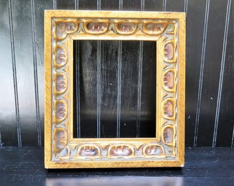 Mid Century Chunky Gold Gilt picture frame - open picture frame for your gallery wall