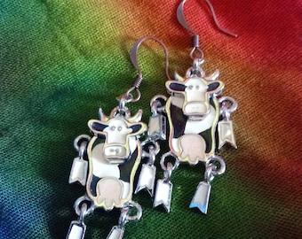 Vintage Berebi Cow Earrings