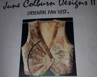 Oriental Fan Vest Pattern, by June Colburn Designs II