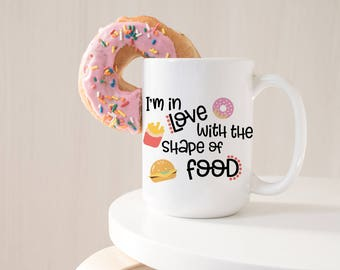 Food Lover Gift - Foodie Gift - Funny Coffee Mug for Her - Gift for Foodie - Funny Coffee Cup - Gift for Coworker - Ceramic Mug