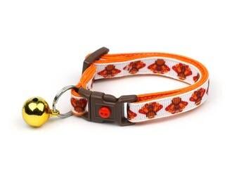 Thanksgiving Cat Collar - Turkey Trot -Small Cat / Kitten or Standard (Large) Cat Collar
