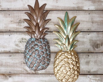 Pineapple Wall Decor ~Large Metal Pineapple Wall Decor~Kitchen Decor~Pineapples