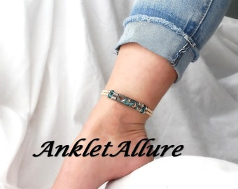 Hi-Low Anklet To The Moon And Back Anklet Ankle Bracelet Aged Copper Anklets For Women GUARANTEED