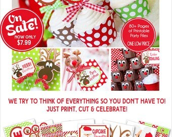 Reindeer Games Party Printables | Christmas Party | Dirty Santa Party | Reindeer Food | Holiday Party | Amanda's Parties To Go | 60% OFF